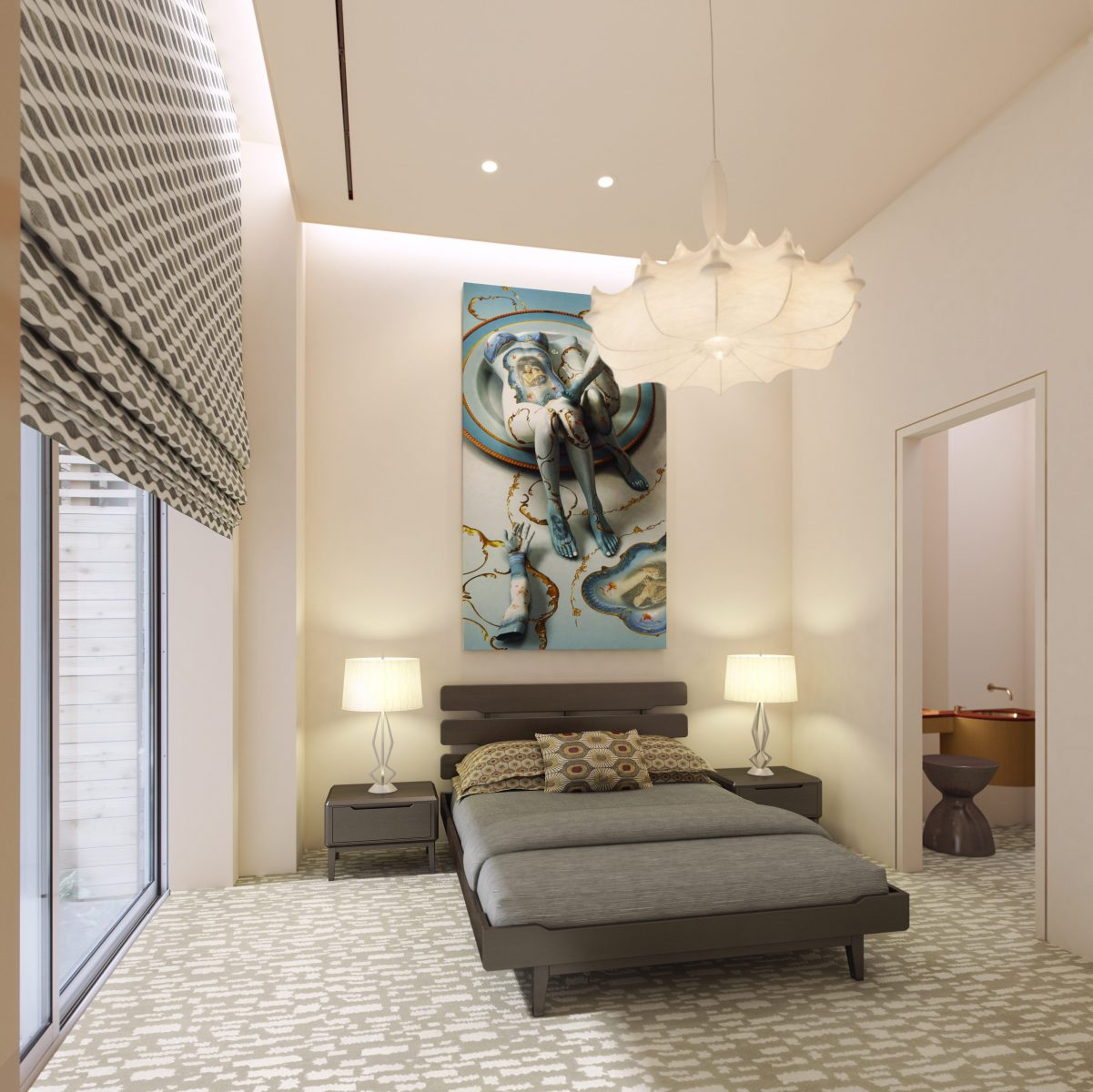 Modern Bedroom Design Better Sleep Blackout Shade Barry Goralnick Architecture