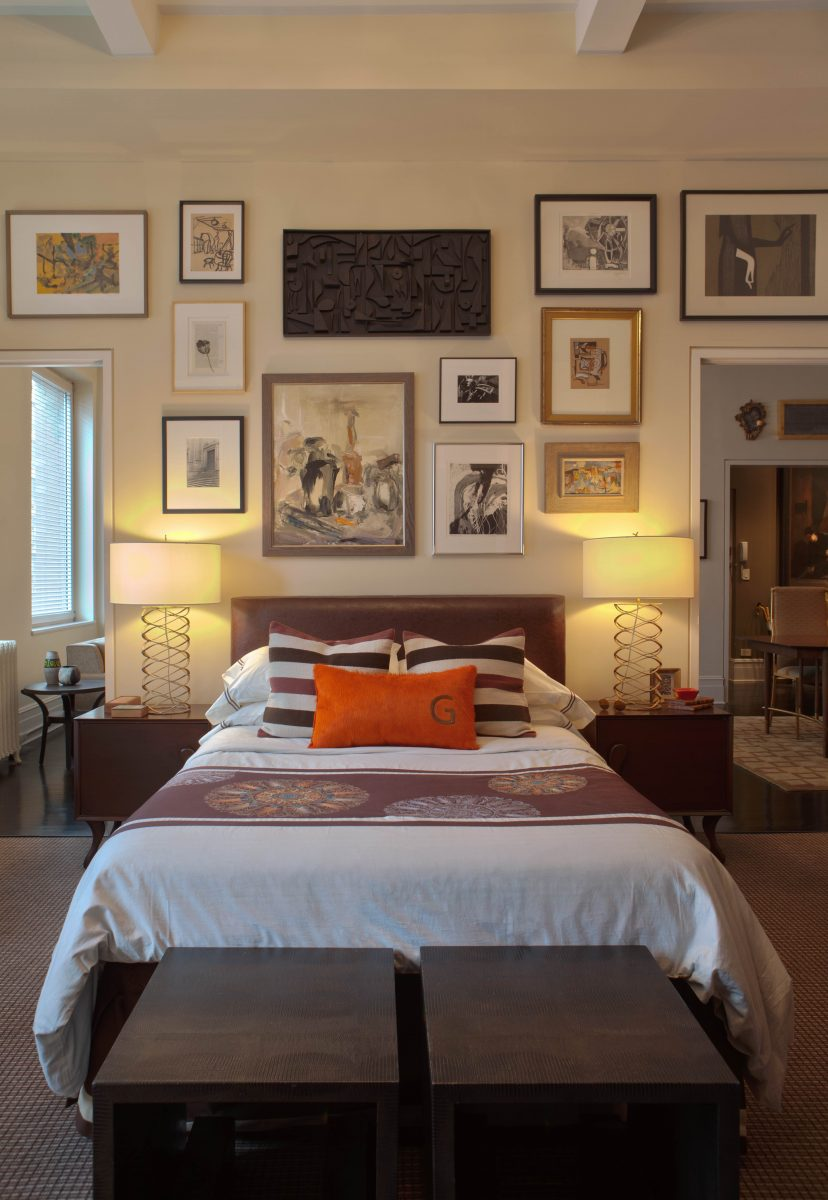 Eclectic Bedroom Design for Better Sleep Barry Goralnick Bracelet Lamp Visual Comfort