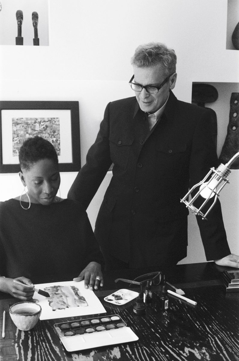 Creative icon Malene Barnett with Barry Goralnick renowned architect and designer